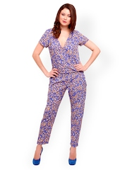 STREET 9 Women Blue Printed Jumpsuit