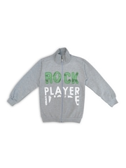 SWEET ANGEL Boys Grey Printed Sweatshirt