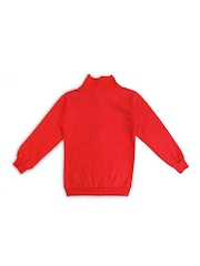 SWEET ANGEL Boys Red Printed Sweatshirt