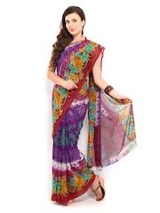 Saee Multicoloured Georgette Printed Saree