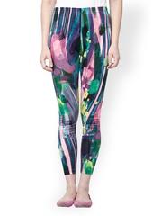 Sakhi Sang Women Multicoloured Printed Velvet Leggings