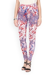 Sakhi Sang Women Blue & Red Printed Leggings