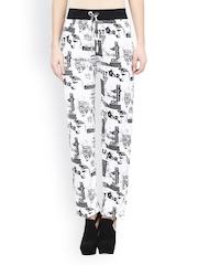 Sakhi Sang Women White & Black Printed Lounge Pants SA0808