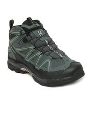 Salomon Men Green X Tracks Mid WP Sports Shoes