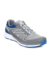 Salomon Men Grey & Blue Sense Mantra 2 Sports Shoes