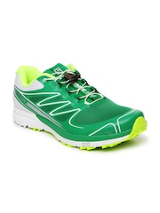 Salomon Men Green & White Sense Pro Sports Shoes