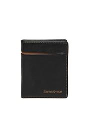 Samsonite Men Black Leather Card Holder