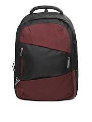 Samsonite Unisex Black & Maroon Albi Backpack