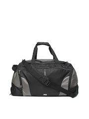 Samsonite Unisex Black Albi Duffle Bag with Trolley