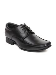San Frissco Men Black Leather Semi-Formal Shoes
