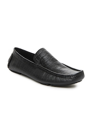 San Frissco Men Black Leather Loafers