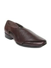 San Frissco Men Brown Leather Casual Shoes