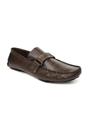 San Frissco Men Brown Leather Loafers