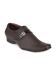 San Frissco Men Dark Brown Semi-Formal Shoes