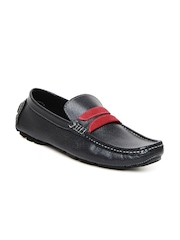 San Frissco Men Dark Blue Leather Loafers