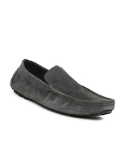 San Frissco Men Grey Suede Loafers