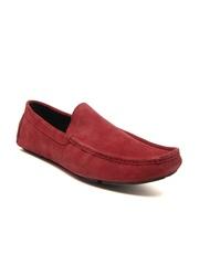 San Frissco Men Red Suede Loafers