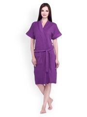Sand Dune Women Purple Bathrobe