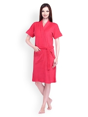 Sand Dune Women Cherry Pink Bathrobe