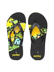 Santini Men Black Flip-Flops