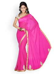 Saree Swarg Pink Faux Chiffon Partywear Saree