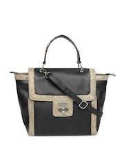 Satya Paul Black Leather Handbag