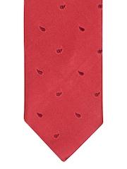 Satya Paul Red Silk Paisley Weave Tie
