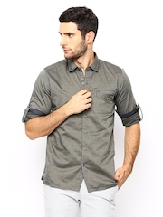 Scapes by TWILLS Men Grey Body Fit Casual Shirt