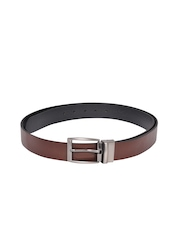 Scarleti Men Brown Leather Reversible Belt