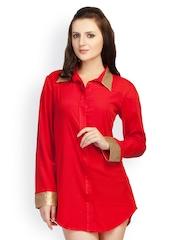 Schwof Women Red Casual Shirt