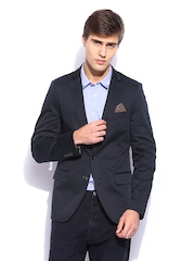 Scotch & Soda Men Navy Slim Fit Blazer