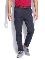 Scotch & Soda Men Navy Stuart Slim Fit Trousers
