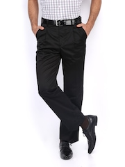 Scullers Men Black Euro Fit Chino Trousers
