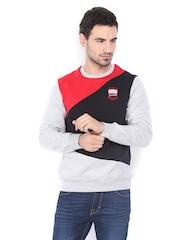 Scullers Men Grey & Red Sweatshirt