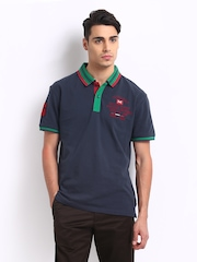 Scullers Men Navy Polo T-shirt