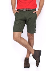 Scullers Men Olive Green Shorts