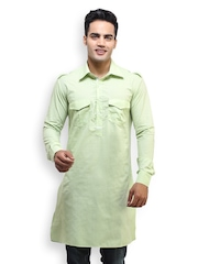 See Designs Men Green Kurta