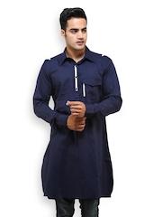 See Designs Men Navy Kurta