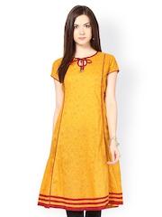 Seeya Women Mustard Yellow Printed Kurta