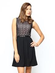 Sepia Black Tailored Dress