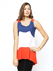 Sepia Women Multicoloured Linen Blend Tunic