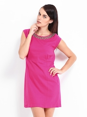 Sepia Pink Shift Dress
