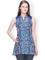 Shakumbhari Women Blue Printed Tunic