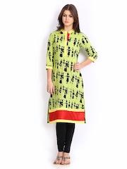 Shakumbhari Women Green Printed Kurta