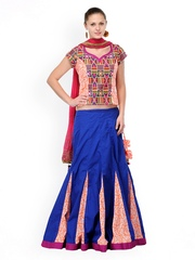 Shakumbhari Navy & Orange Lehenga Choli