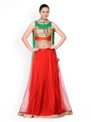 Shakumbhari Red & Orange Lehenga Choli