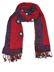 She Dezires Red Woolen Stole