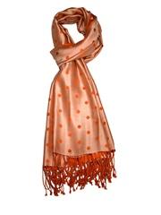 She Dezires Orange Polka Dot Silk Stole