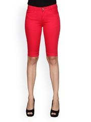 Sheen Women Red Capris
