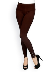Sheen Women Brown Ankle-Length Leggings